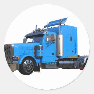 Ljust - blått som den halva lastbilen i tre runt klistermärke