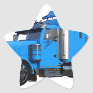 Ljust - blått som den halva lastbilen i tre stjärnformat klistermärke