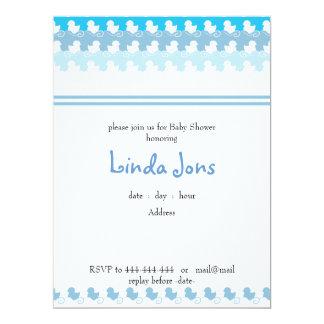 ljust - blåttankan ror baby showerinbjudan 16,5 x 22,2 cm inbjudningskort