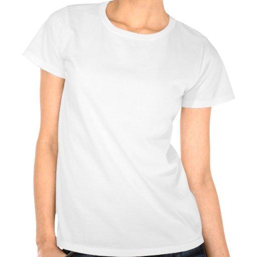 Ljust - blåttdamast; Svart tavlalook för vintage Tee Shirt