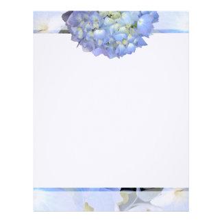 Ljust - blom- handstilpapper för blått brevhuvud