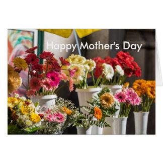 Ljust blom- mors dagkort hälsningskort