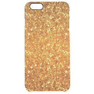 Ljust - brunt glitter clear iPhone 6 plus skal