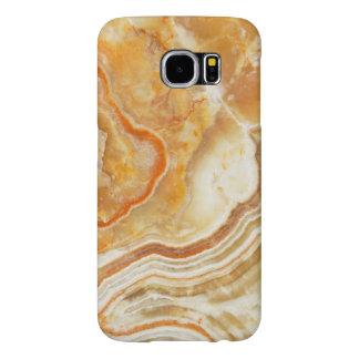 Ljust - brunt marmorstenmönster galaxy s5 fodral