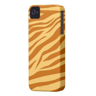 Ljust - brunt/solbränd zebra tryck - fodral för iPhone 4 Case-Mate fodraler