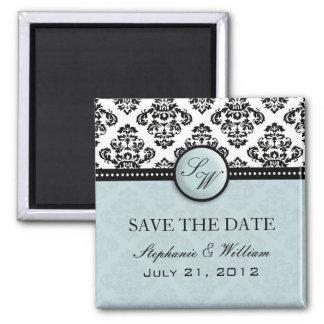 Ljust - damastast bröllop spara datummagnet för bl magnet