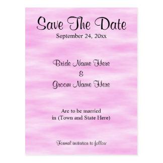 Ljust - design för rosamönsterbröllop spara datum vykort
