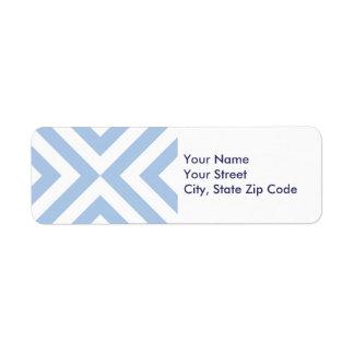 Ljust - etikett för blått- och returadress etikett