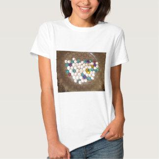 Ljust färgade bollar för silicagel t shirts