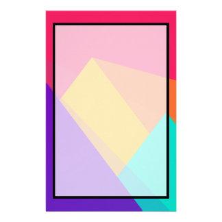 Ljust färgade geometriska trianglar och pyramider brevpapper