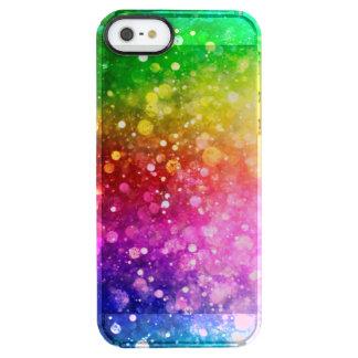 Ljust färgrikt Bokeh modernt glitter Clear iPhone SE/5/5s Skal