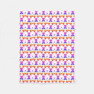 Ljust färgrikt geometriskt lutningmönster fleecefilt