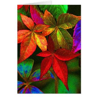 Ljust färgrikt lövkort hälsningskort