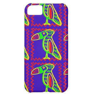 Ljust färgrikt roligt Toucan tropiskt fågelmönster iPhone 5C Fodral