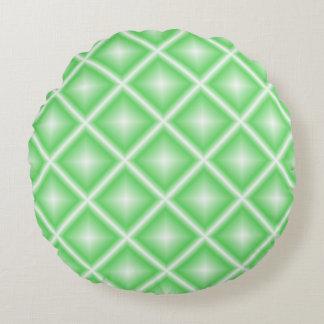 Ljust - geometrisk grön stjärna rund kudde