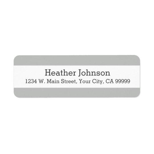 Ljust - grått görar randig returetiketter returadress etikett