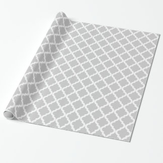 Ljust - grått marockanskt tryck presentpapper