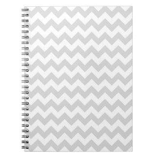 Ljust - grått mönster för vitsparresicksack anteckningsbok