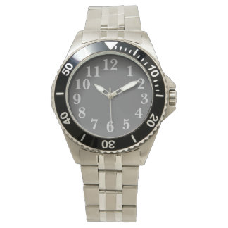Ljust - grått på grått armbandsur