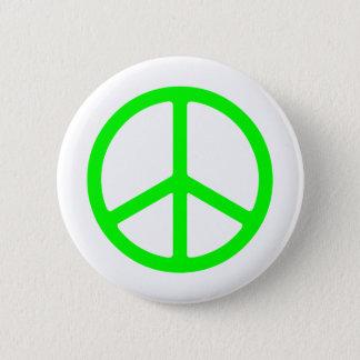 Ljust - grön fredstecken standard knapp rund 5.7 cm