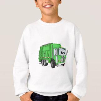 Ljust - grön le soporlastbiltecknad t shirt