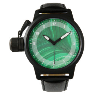 Ljust - grön Malachitemineral Armbandsur