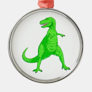 Ljust - grön Tyrannosaurus Rex Julgransprydnad Metall