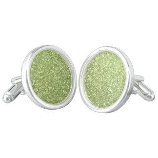 Ljust - gröna glitterSparkles Cufflinks