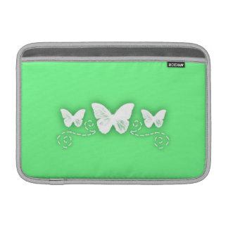 Ljust - gröna och utsmyckade fjärilar sleeve för MacBook air