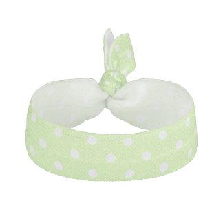 Ljust - grönt med tien för vitpolka dotshår hårband