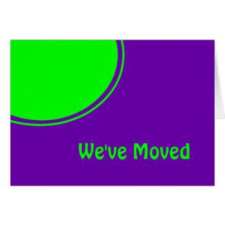 Ljust - grönt purpurfärgat Weve rört meddelande Hälsningskort