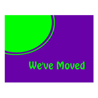 Ljust - grönt purpurfärgat Weve rört meddelande Vykort