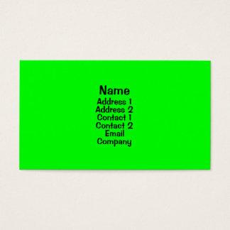 Ljust - grönt visitkort