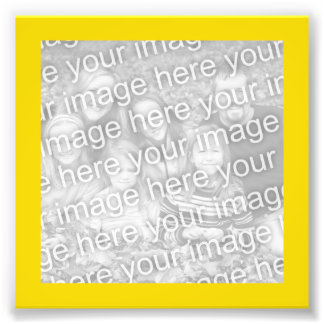 Ljust gult guld- ramfoto fototryck