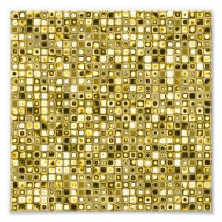 """Ljust - gult """"Popcorn"""" texturerade rastermönster Fototryck"""