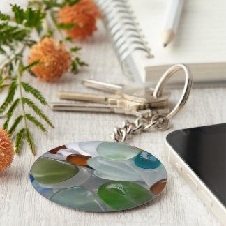 Ljust havsexponeringsglas för juvel rund nyckelring