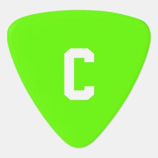 Ljust - koordinerad bästa färg för grönt plektrum