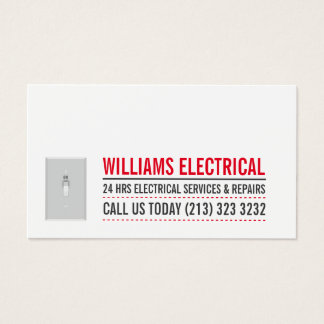 Ljust koppla den svartvita elektrikeren visitkort
