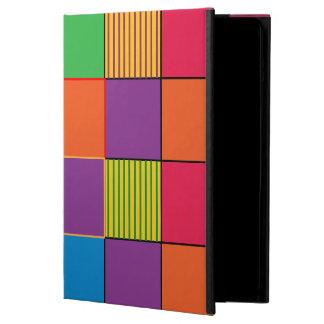 Ljust kvadrerar görar randig färgaden och iPad air fodral