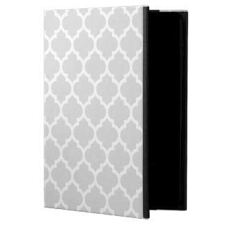 Ljust - marockanskt Quatrefoil för grå vit mönster Powis iPad Air 2 Skal