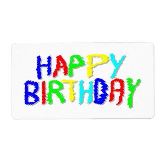 Ljust och färgrikt. Lycklig Birthday. Fraktsedel