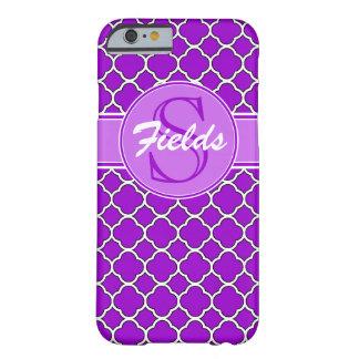 Ljust purpurfärgat fodral för Quatrefoil Barely There iPhone 6 Fodral