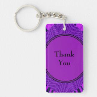 Ljust purpurfärgat tack nyckelring