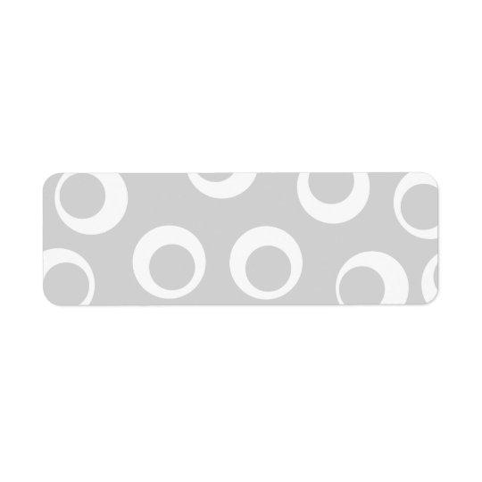 Ljust - retro modell för grått och för vit returadress etikett