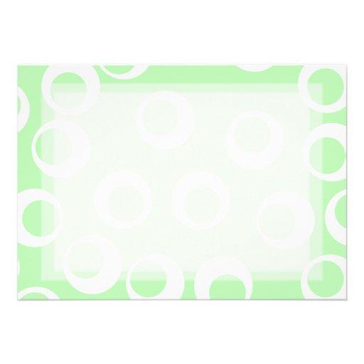 Ljust - retro modell för grönt och för vit personliga tillkännagivanden