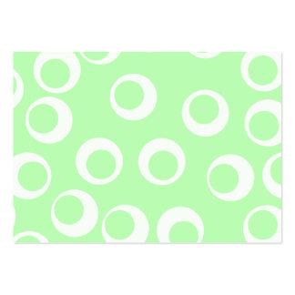 Ljust - retro modell för grönt och för vit set av breda visitkort