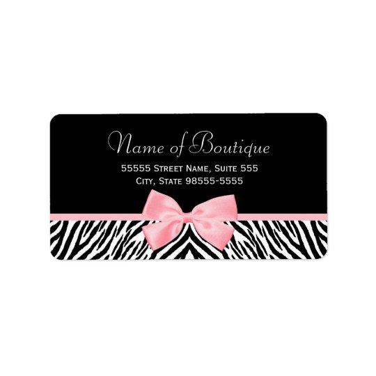 Ljust riktigt rosa band för chic zebra adressetikett