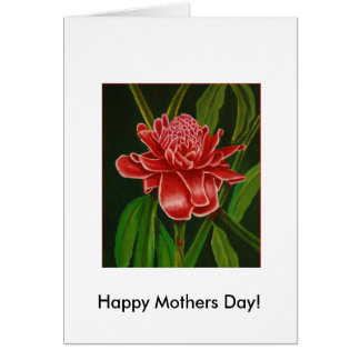 Ljust rödbrun mors dagkort för fackla hälsningskort