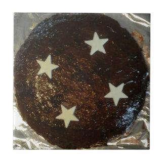 Ljust rödbrun tårta kakelplatta
