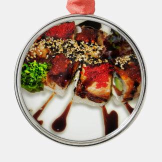 Ljust rödbrun Wasabi Japan för SushiRolls sesam Julgransprydnad Metall